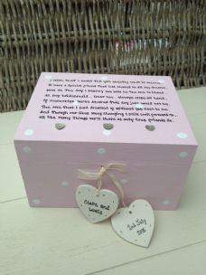 Shabby Personalised Chic Bridesmaid Matron Or Maid Of Honour Wedding Trinket Box